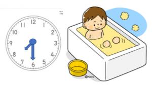 時計お風呂表示